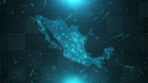 Mexico Map Population 4K Animation