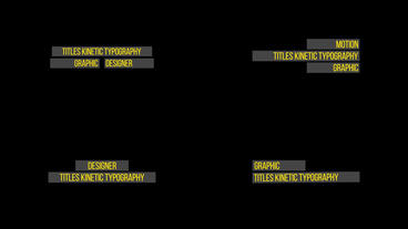 Titles Kinetic Typography Premiere Pro Template