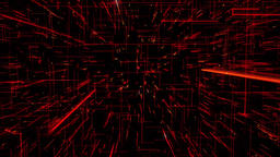 Inside a 3D Red Morphing Grid Animation Background Backdrop Animation