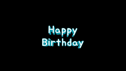 Happy Birthday loop animation CG動画素材