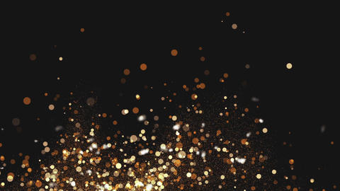 Gold Particles Background Animación