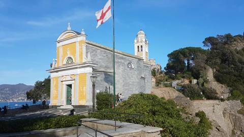 San Giorgio Church in Portofino Italy Image