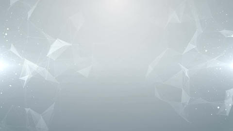 Plexus white abstract network technology business science background vj loop Animation