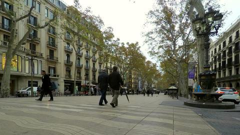 Big Wide Pedestrian Only Promenade Footage