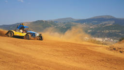 Chelopech, Bulgaria - August 6, 2017: National autocross championship, Chelopech 영상물