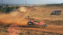 Chelopech, Bulgaria - August 6, 2017: National autocross championship, Chelopech Footage
