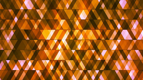 Broadcast Twinkling Hi-Tech Diamonds, Orange, Abstract, Loopable, 4K Animation