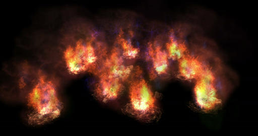 Digital Particle Animation of Fire CG動画素材