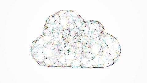 Cloud computing IT conception Animation