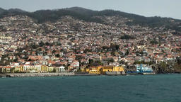 Portugal Madeira island Funchal city at hillside of Monte Footage