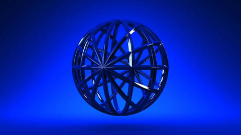 Blue Circle Abstract On Blue Background CG動画