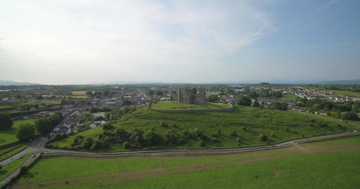 Aerial, Rock Of Cashel, County Tipperary, Ireland Footage