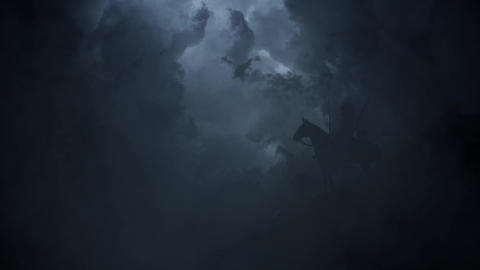Japanese Samurai Warrior on a Stormy Day Image