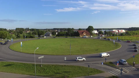 Aerial shot of a roundabout Archivo