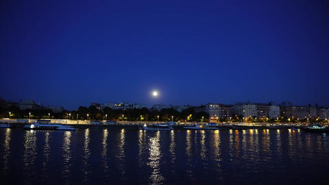 River side by night Image