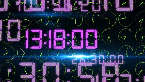 Rushing decimal digits and revolting clock arrows Animation