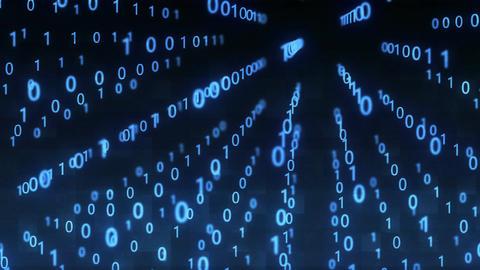 Technological Digital binary data glitch background with binary code. Binary dig Animation