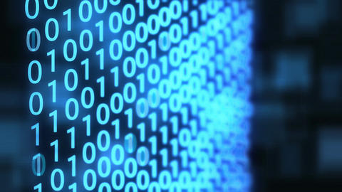 Technological Digital binary data background with binary code. Binary digits on  Footage