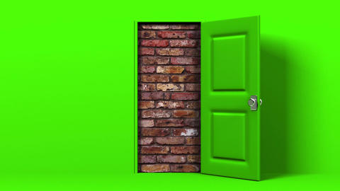 Green Door And Wall Animation