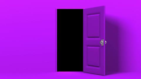 Purple Door And Dark Room Animation