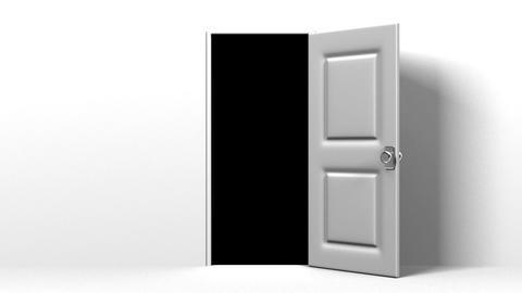White Door And Dark Room Animation