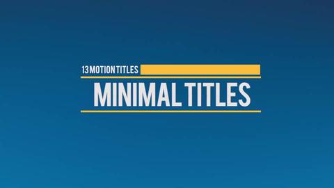 Motion Titles 2 Premiere Pro Template