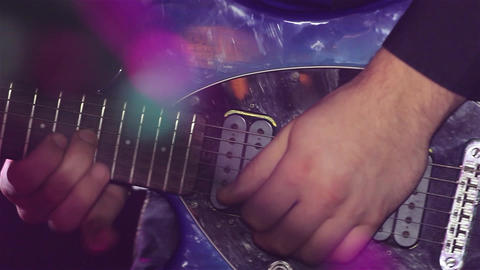 Sequence from a concert disco where a guitarist shows his mastery 2 Footage