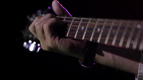Sequence from a concert disco where a guitarist shows his mastery 5 Footage