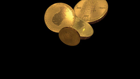 4k Golden coin background,economic gold money currency finance rich wealth cash Live Action