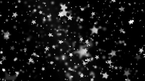Abstract Star Particle Background - Loop Black and White Animation