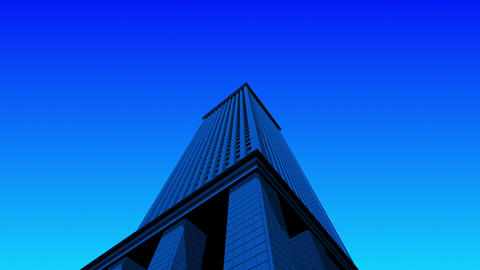 SHA 3d Building Blue CG動画素材