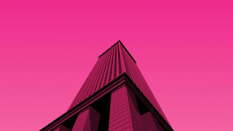 SHA 3d Building Pink Animation