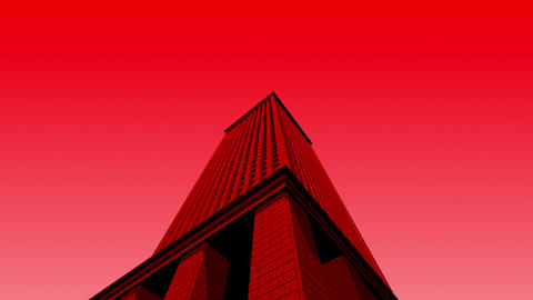 SHA 3d Building Red stock footage