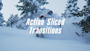 Action Sliced Transitions Premiere Pro Template
