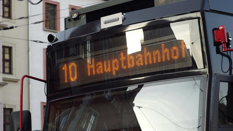 Germany Hauptbahnhof Public Transport Train Display Handheld Live Action