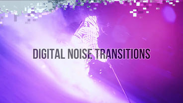 Digital Noise Transitions Premiere Pro Template
