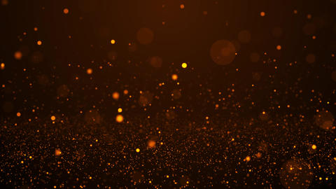 Romantic gold particles Animation