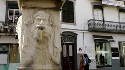 Portugal Madeira statue with fountains in front of an old facade in Funchal Image