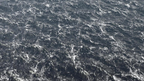 Flight Over The Stormy Ocean / Stormy North Sea CG動画素材