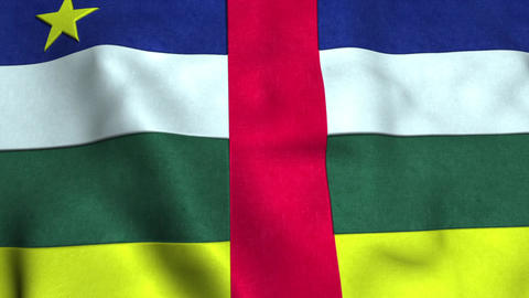 Central african rep Flag Animation