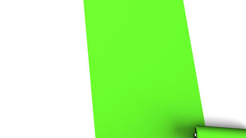 Green Paint Roller Animation