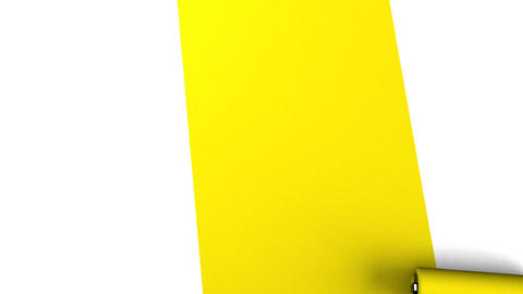 Yellow Paint Roller Animation