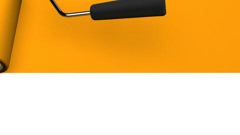 Orange Paint Roller CG動画