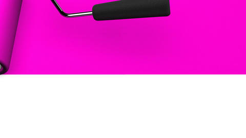 Pink Paint Roller Animation