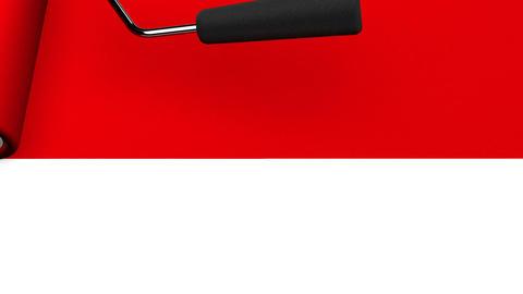 Red Paint Roller CG動画