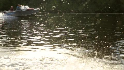 Water spray flow stream Footage