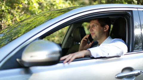 Businessman Driving Car 1