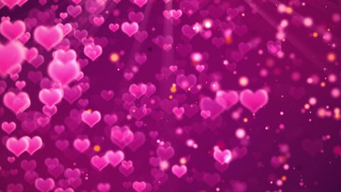 romantic hearts background CG動画素材
