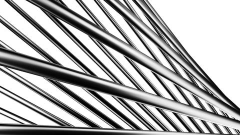 Silver Poles Abstract On White Background Animation
