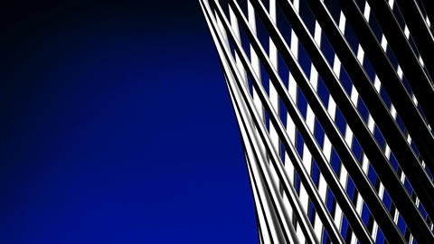 Silver Poles Abstract On Blue Text Space Animation